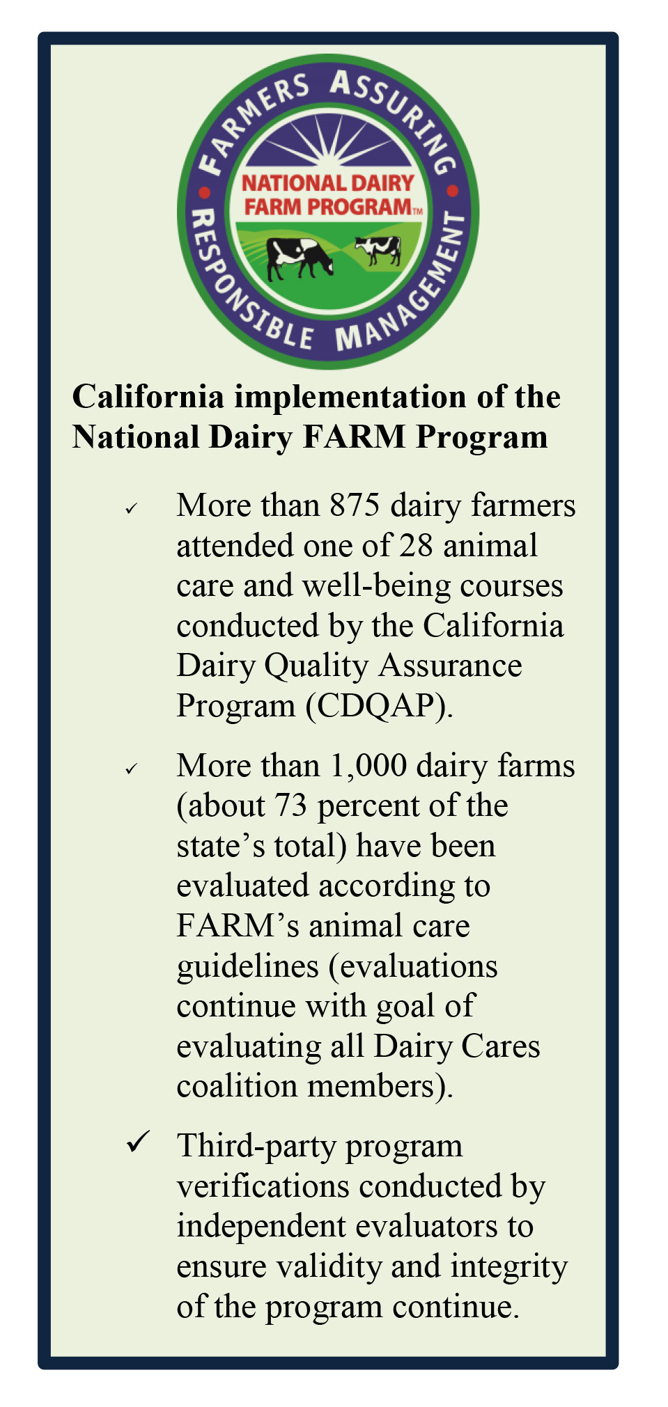 Dairy Cares Report