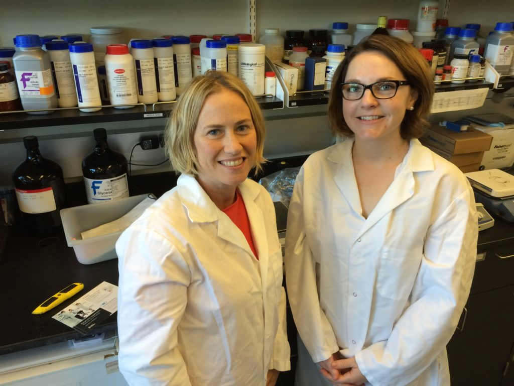 (L - R) Drs. Maria Marco and Mary Kable in the Marco Lab at the University of California, Davis. Researchers at UC Davis have recently published a study that is already having an effect on industry.