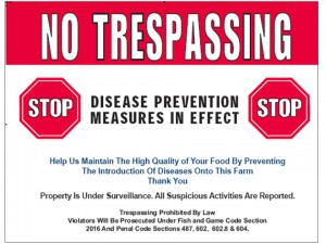2 Biosecurity Signage