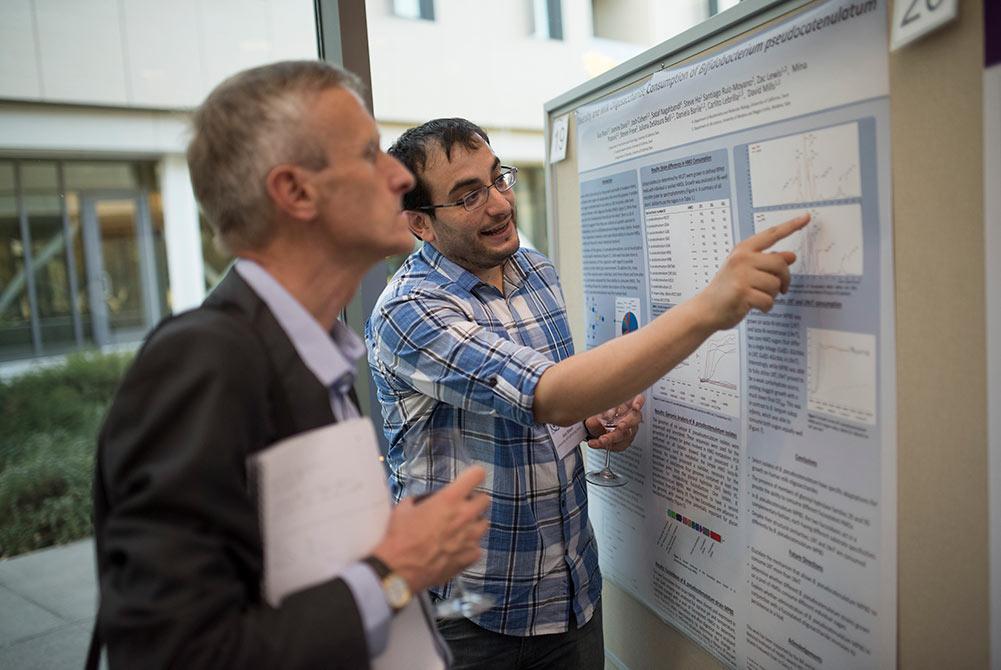 Translating Science for Milk Genomics information on presentation board